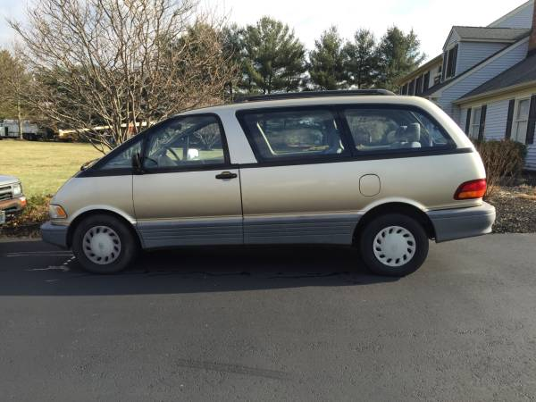 American Family Rate Quote For 1992 TOYOTA PREVIA DLX 2WD SPORT VAN - 2.4L L4  FI           NF $201.08 Per Month