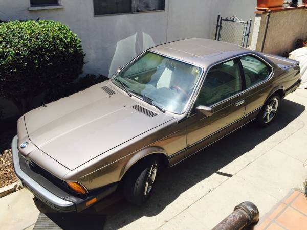 Insurance Rate for 1987 BMW 6-Series 635CSI automatic - Average Quote $92 per Month