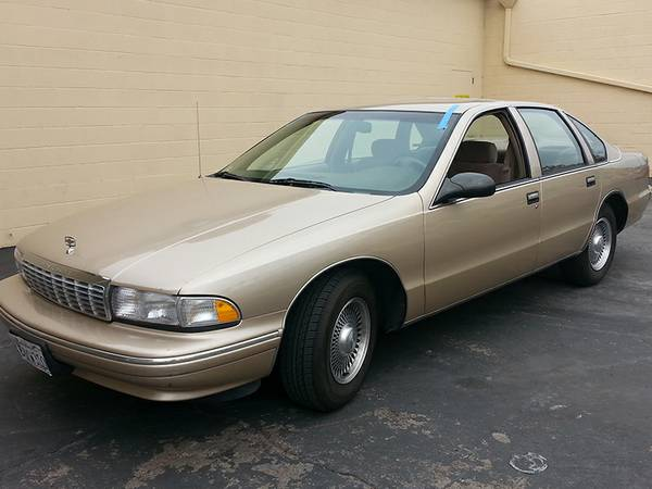 Insurance Rate for 1996 Chevrolet Caprice Classic - Average Quote $98 per Month