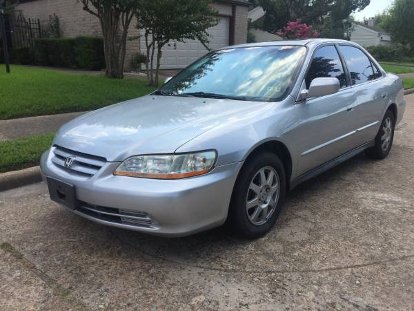 Insurance Rate for 2002 Honda Accord - Average Quote $37 per Month