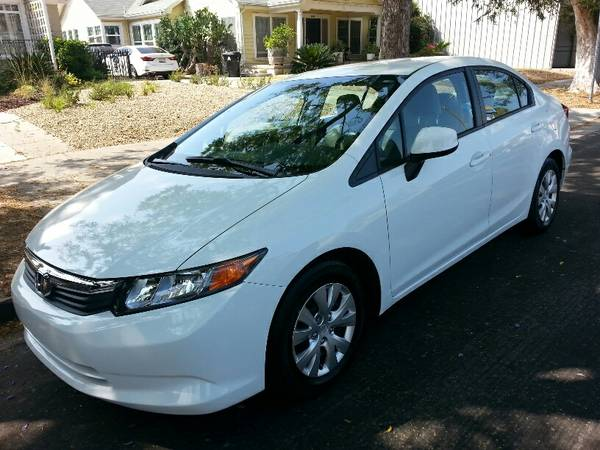 Insurance Rate for 2012 Honda Civic LX Sedan 5-Speed AT - Average Quote $108 per Month