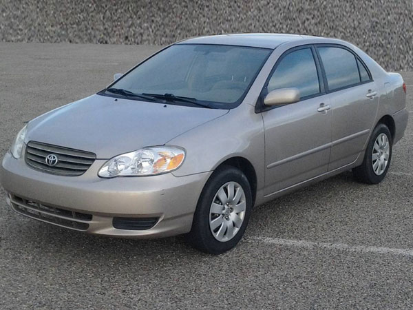 2003 Toyota Corolla Insurance $100 Per Month