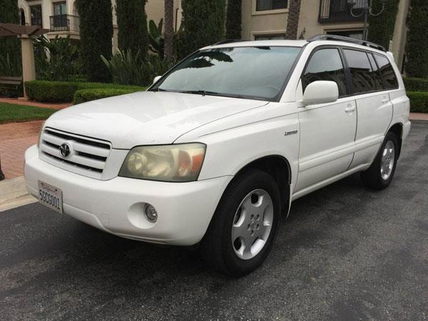 2004 Toyota Highlander Insurance $67 Per Month