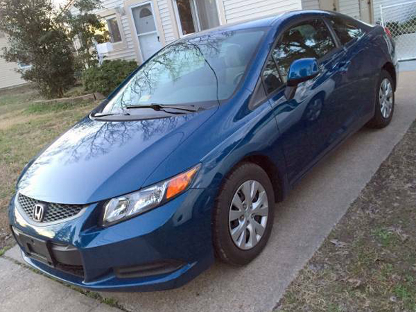 2012 Honda Civic Coupe  Insurance 102 Per Month