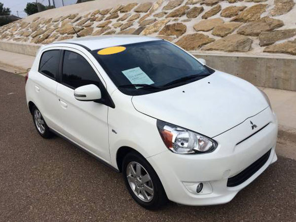 2015 Mitsubishi Mirage  Insurance $84 Per Month